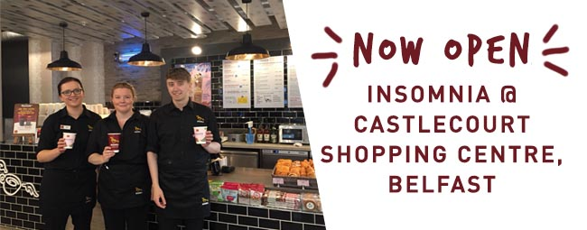 Castlecourt welcomes Insomnia Coffee