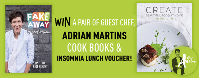 Win a pair of guest chef Adrian Martins Cook Books
