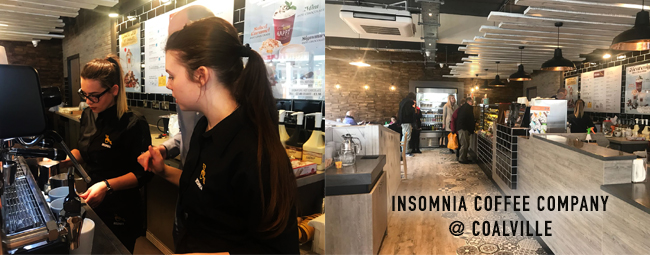 Coffee is our calling at Insomnia Coalville