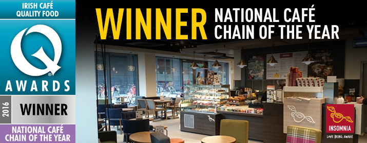 Insomnia wins National Cafe Chain of the Year Award