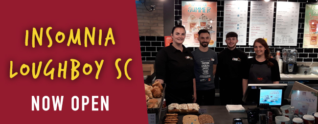 Insomnia Coffee opens in Loughboy, our second store in Co. Kilkenny!