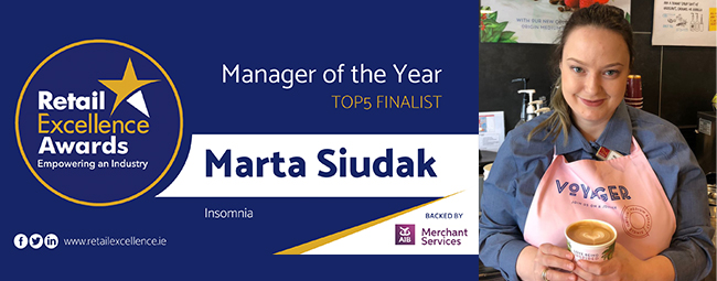 Marta Siudak in the Top 5 Retail Excellence Manager of the Year Awards 2018