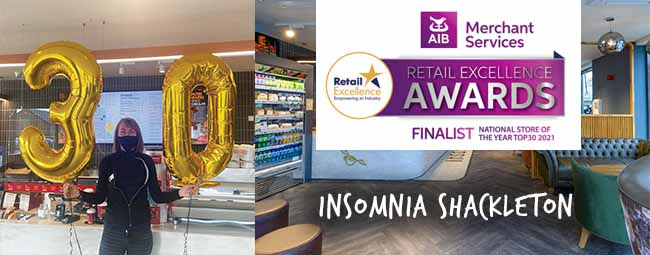 INSOMNIA Shackleton is a top 30 store 2021