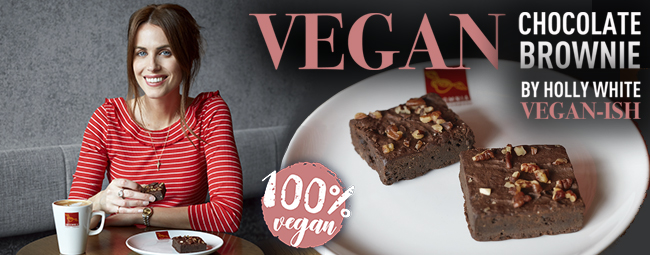 "VEGAN CHOCOLATE BROWNIE BY HOLLY WHITE ""VEGAN-ISH"""