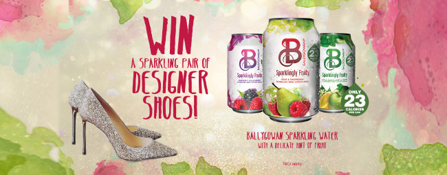 WIN a pair of designer shoes worth €500 with Ballygowan & Insomnia