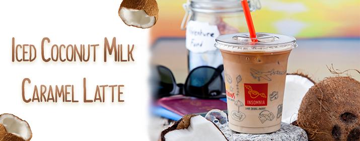 Introducing Iced Coconut Milk Caramel Latte!