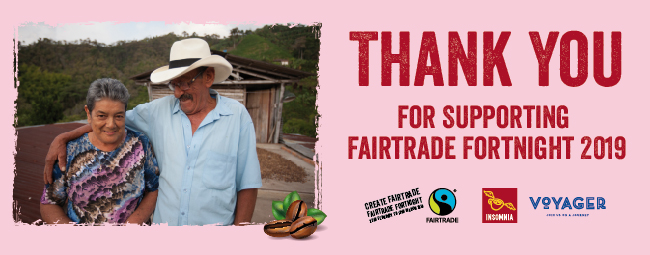 Thank you for supporting Fairtrade Fortnight 2019