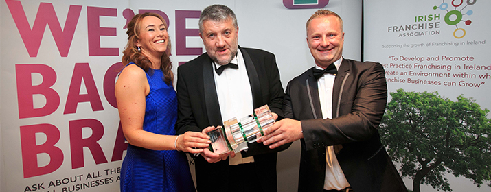 Insomnia announced as 'Best Indigenous Irish Franchise' at the Irish Franchise Awards 2016