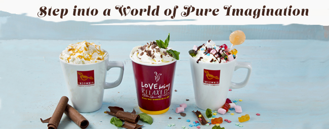 Step into a world of pure imagination with Insomnia's new range of Hot Chocolates!